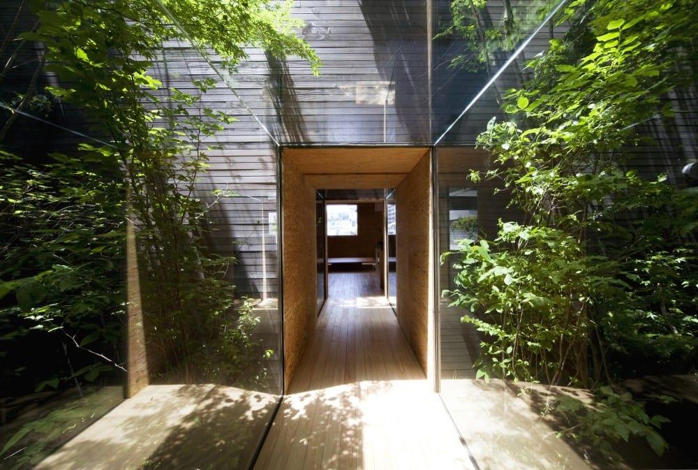 Glasgang durch den Garten- Garten ideen