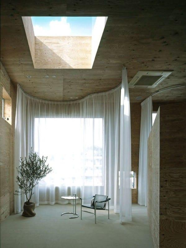 büroräume - gestaltungsidee mit Gardinen und oberlicht-deckengestaltung