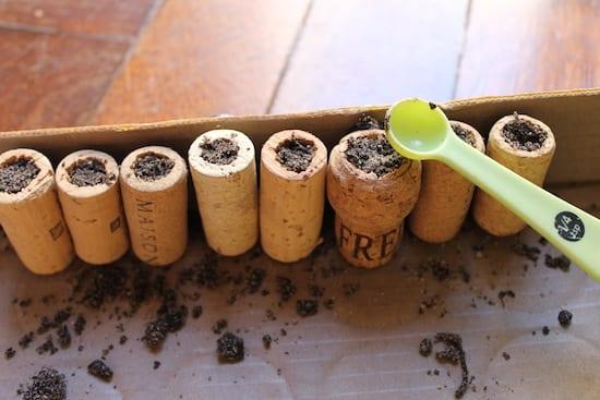 DIY Pflanzenbehälter aus Korken