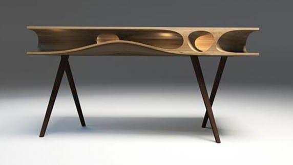 moderner Holztisch