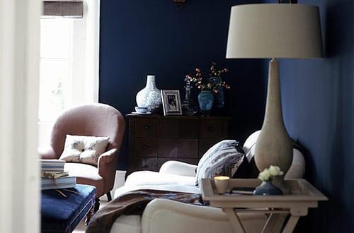 dunkelblau wandfarbe wohnzimmer blau freshouse. Black Bedroom Furniture Sets. Home Design Ideas