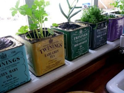 deko idee mit teeboxen - DIY deko