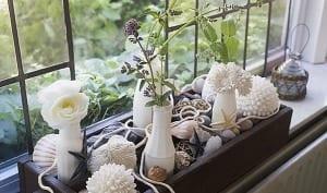 Fensterbank dekorieren mit steinen freshouse - Fensterba nke dekorieren ...
