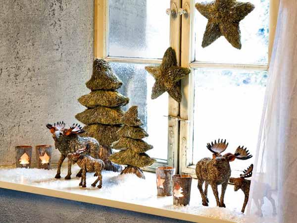 weihnachtsdeko ideen für fensterbank