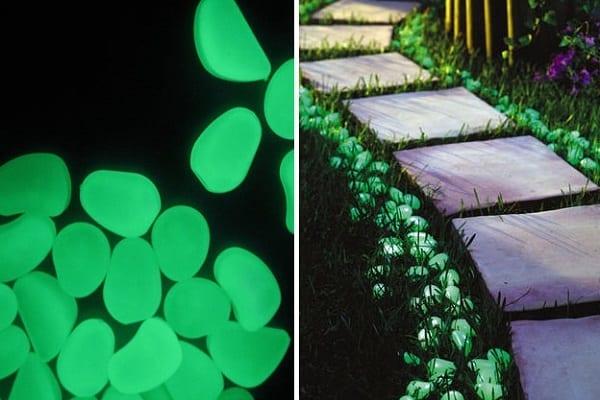 DIY Gartenwege mit Phosphorsteinen