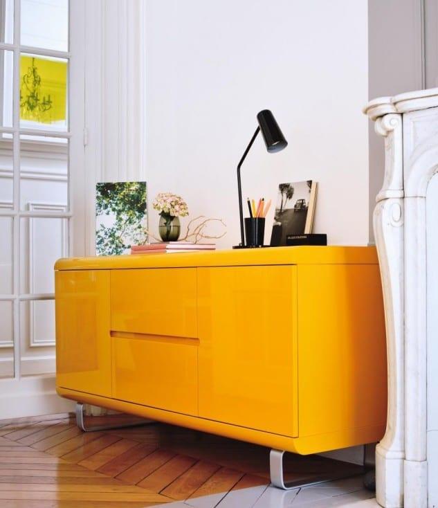 sideboard dekorieren-sideboard gelb von fly