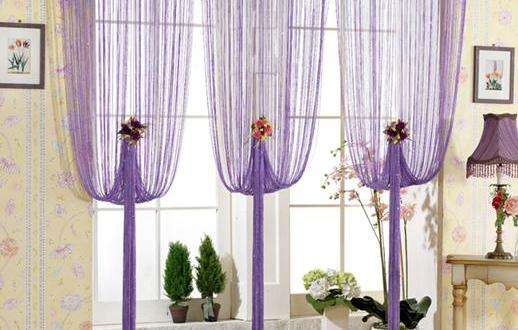 gardinen dekorationsideen in lila freshouse. Black Bedroom Furniture Sets. Home Design Ideas