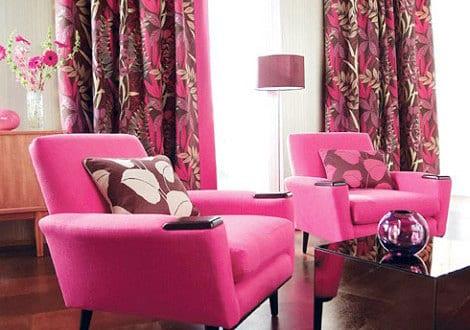 Gardinen dekorationsideen in pink freshouse for Gardinen pink