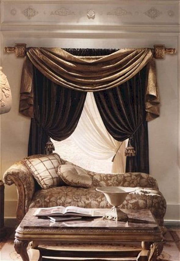 gardinen dekorationsideen - freshouse - Wohnzimmer Weis Gold