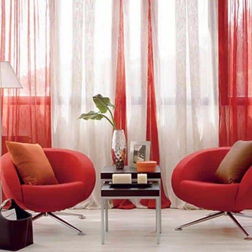 wohnzimmergestaltung in weiß und rot-moderne seats and sofas-sessel rot