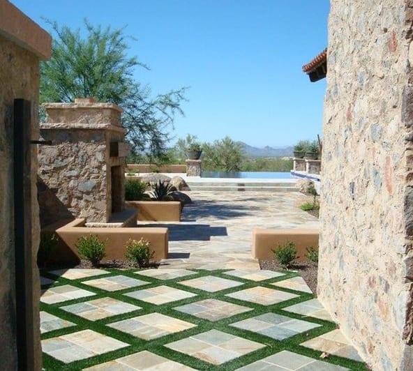 haus und garten - terrasse aus naturstein