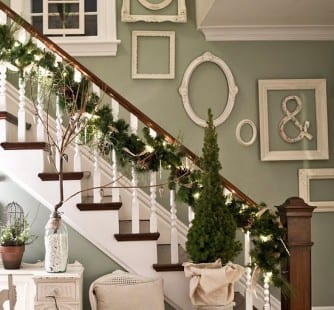 weihnachtsdeko für die treppe