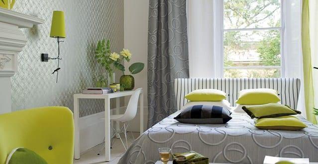hellgrau und gr n farbestaltung schlafzimmer freshouse. Black Bedroom Furniture Sets. Home Design Ideas