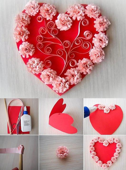 DIY valentinstag Karte-Herz