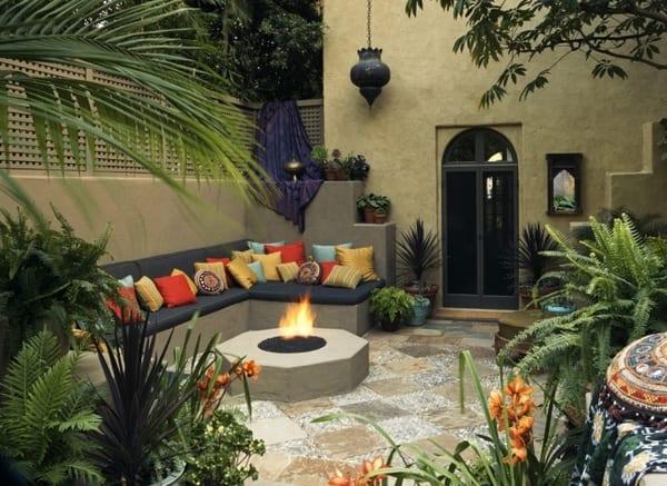 Gartengestaltung im Hinterhof