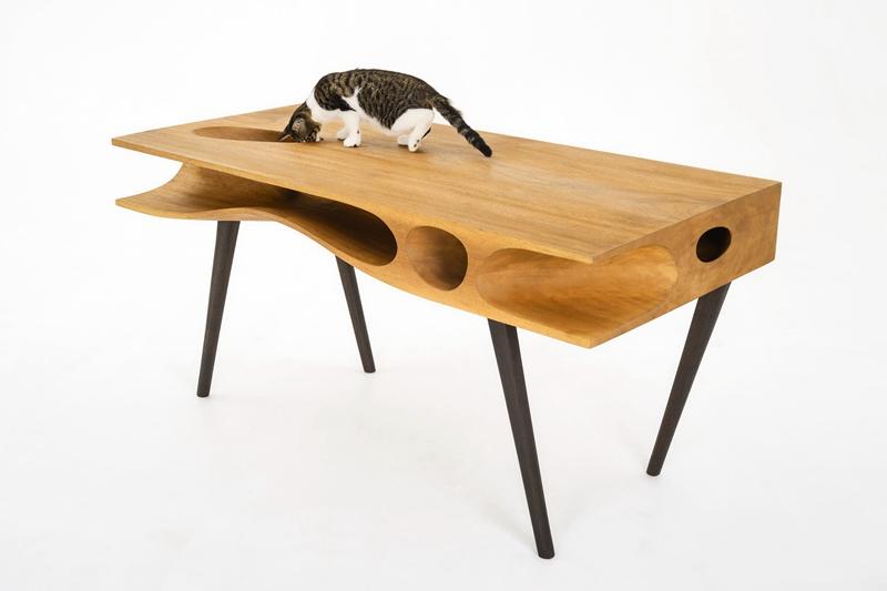Moderner Schreibtisch Aus Holz  Coole Wohnideen