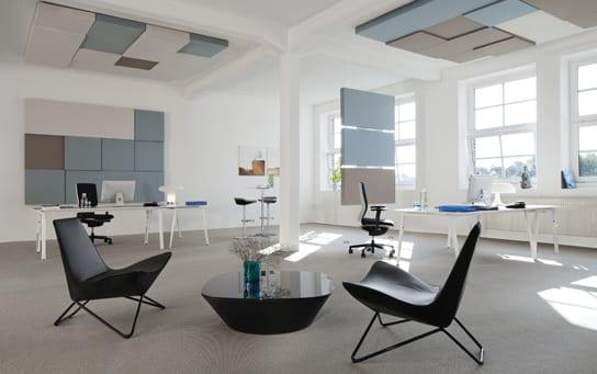 Büro Idee mit wandgestaltung