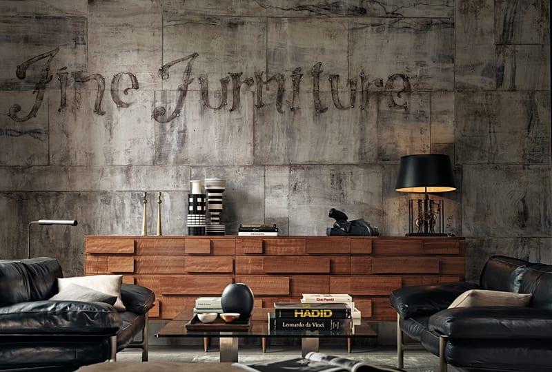 Modernes Wohnzimmer Interior Mit Sideboard Holz Dekorieren