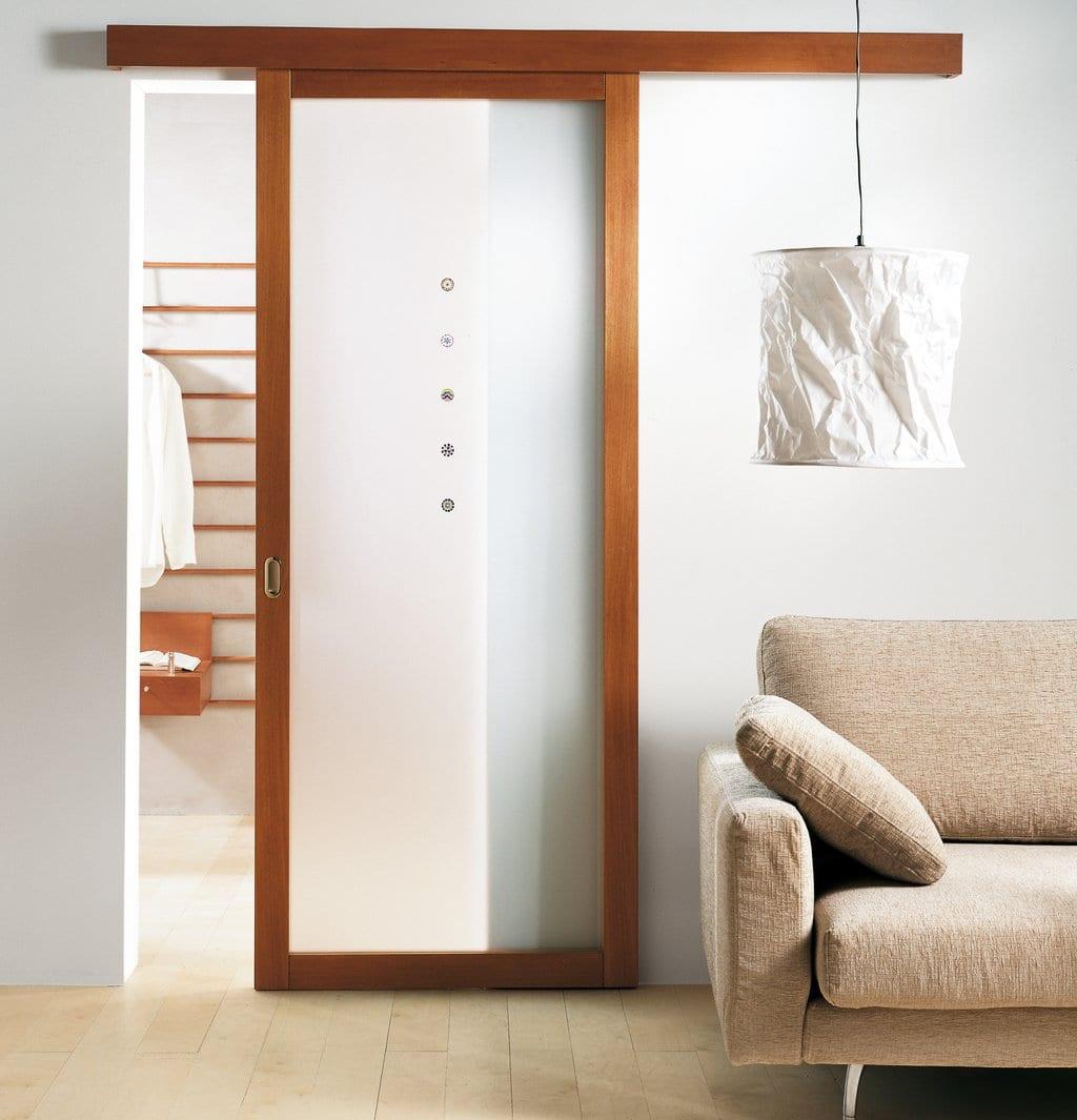 Schiebetür holz weiß  innentüren weiß-moderne schiebetüren aus holz mit weißen ...