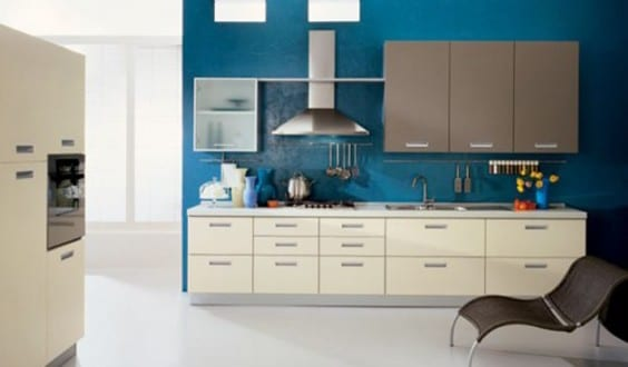 küche wandfarbe blau - fresHouse