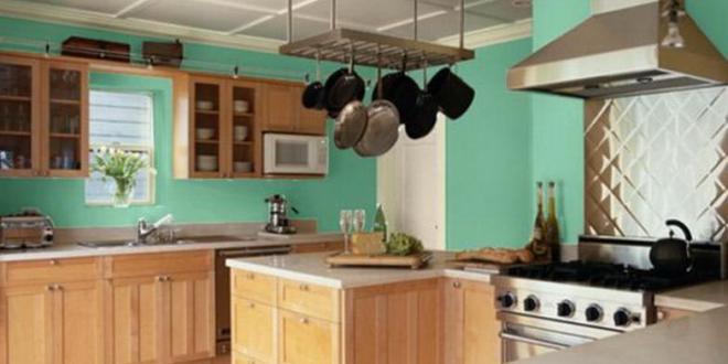 küche wandfarbe blau via Home Design Plan - fresHouse
