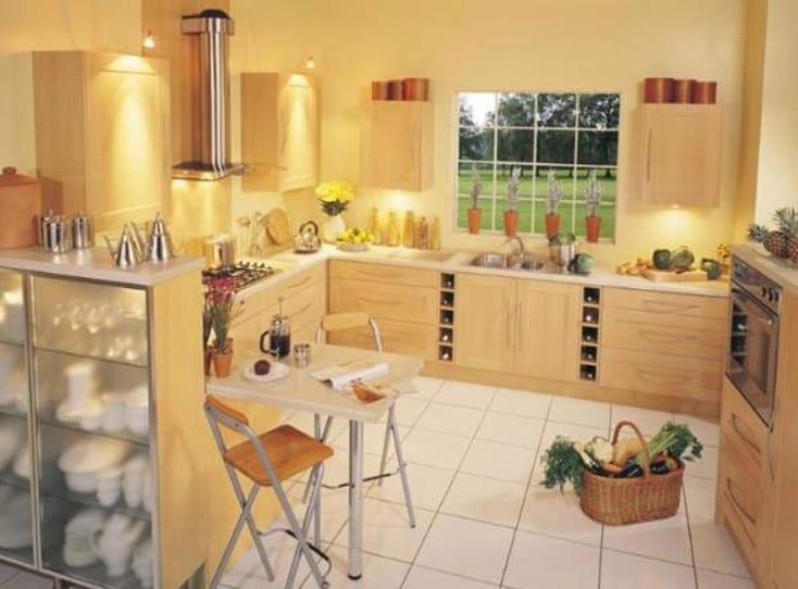 küche gelb - kleine küche ideen