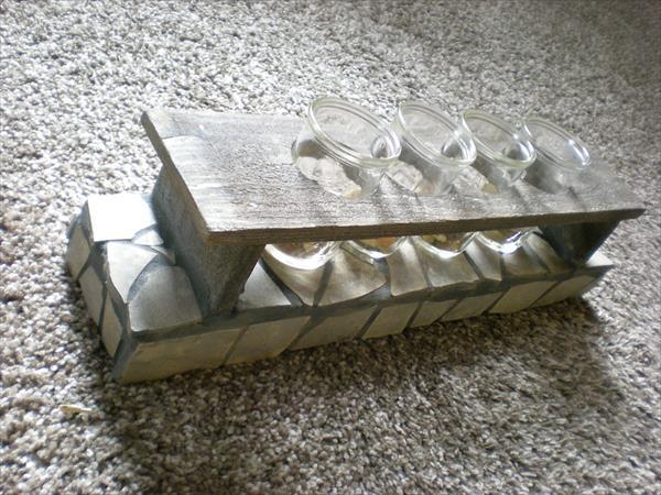 kerzenhalter aus holz und beton