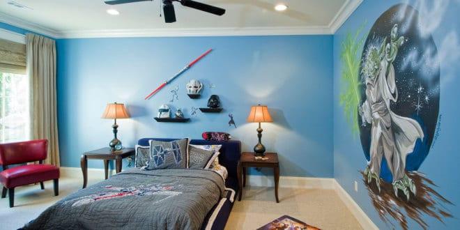 kinderzimmer streichen-blaue wand - freshouse - Kinderzimmer Blau Streichen