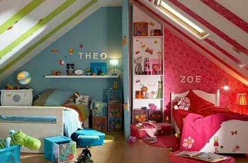 kinderzimmer streichen kinderzimmer dachgescho freshouse. Black Bedroom Furniture Sets. Home Design Ideas