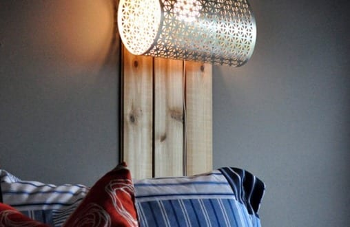 lampen selber basteln coole pendelleuchte aus metall. Black Bedroom Furniture Sets. Home Design Ideas