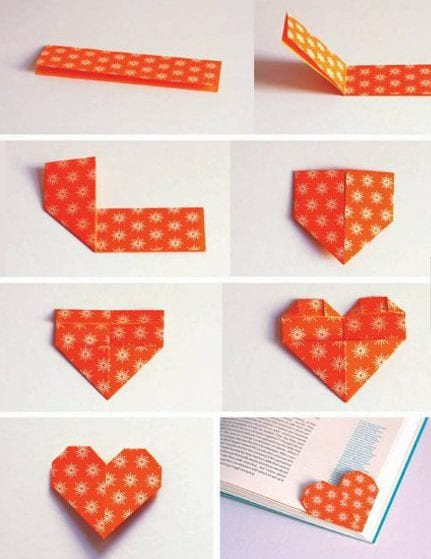 lesezeichen aus papier selber basteln