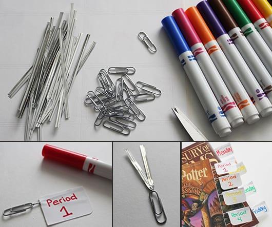 DIY Lesezeichen aus Büroklammern