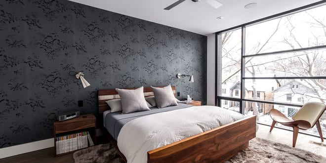 Modernes schlafzimmer grau  Schlafzimmer Grau - ein modernes Schlafzimmer Interior in grau ...