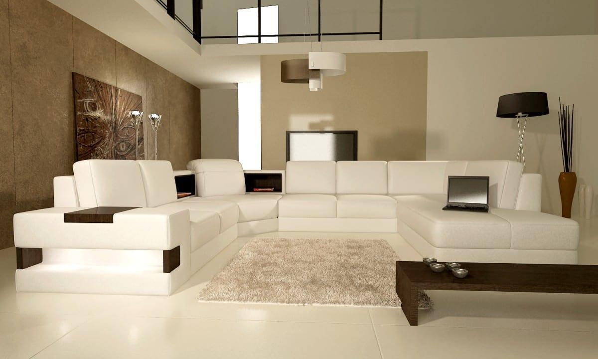 wohnzimmer farbgestaltung in beige und weiß-moderne seats and sofas weiß