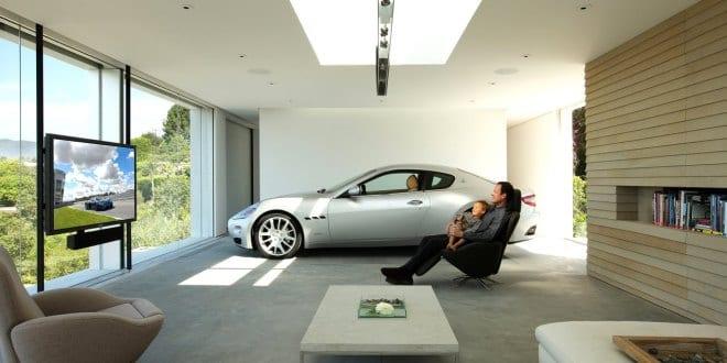 luxus wohnzimmer mit garage - Luxus Wohnzimmer