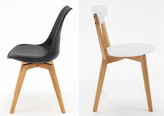 esszimmerstühle schwarz und weiß-stuhl schwarz füsse bess eiche