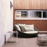 moderne terrassenmöbel-sofa rund