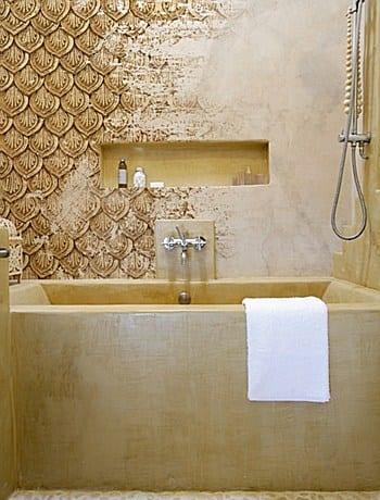 badezimmer wandgestaltung mit tapete