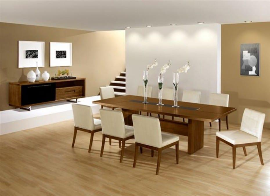 Attraktiv Esszimmer Gestaltung Mit Laminatboden Und Holzesstisch Sideboard Holz  Dekorieren