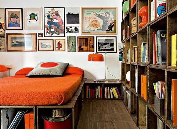 modernes schlafzimmer holz-bilderrahmen dekorieren