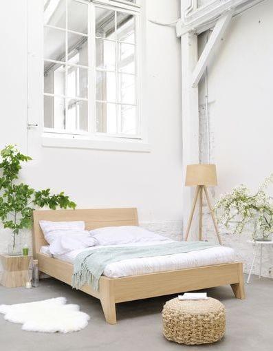 loft wohnideen mit luxus Schlafzimmer aus Holz