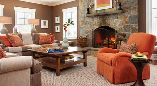 modernes wohnzimmer braun - fresHouse
