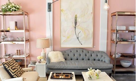 design : wohnzimmer grau altrosa ~ inspirierende bilder von ... - Rosa Wandfarbe Wohnzimmer