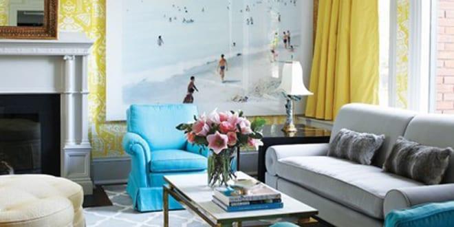 modernes wohnzimmer mit wand gelb freshouse. Black Bedroom Furniture Sets. Home Design Ideas