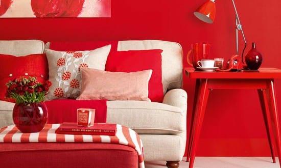 wohnzimmer rot - die moderne wohnzimmer farbe - freshouse - Wohnzimmer Farben 2015