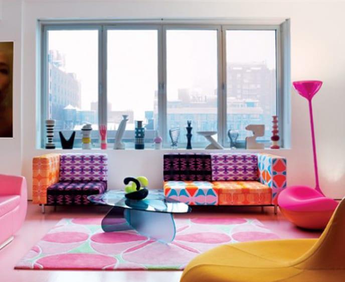 coole bilder mit farbigen seats and sofas-fensterbank dekorieren-teppich pink