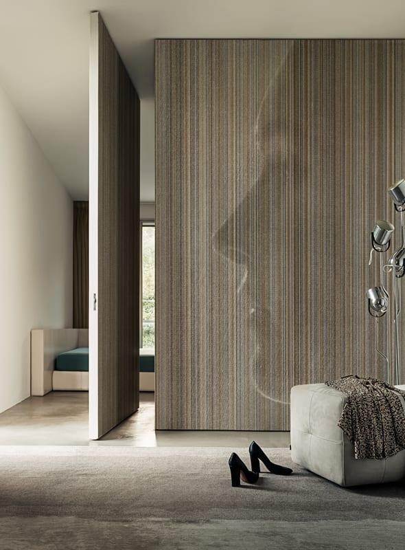 luxus schlafzimmer mit drehtür raumhoch-modernes interior design