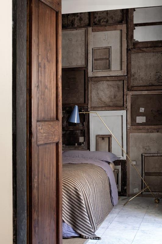 innenraumgestaltung mit modernen tapeten für coole wandgestaltung- kleines schlafzimmer einrichten