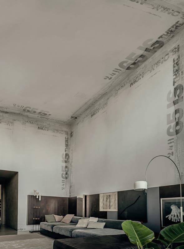 loft wohnung mit minimalistischem interior