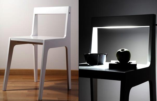 designerstuhl weiß- luxus schlafzimmer mit modernem nachttisch einrichten